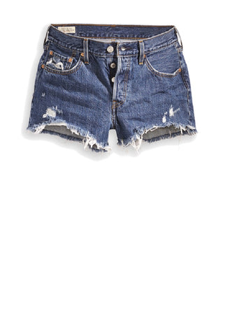 LEVI LADIES 501 ORIGINAL SANSOME STONEWASH SHORT