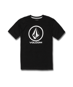 VOLCOM YOUTH BOYS CRISP STONE BLACK TSHIRT