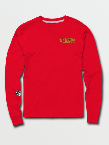 VOLCOM YOUTH CATBACK LS FIERY RED TSHIRT