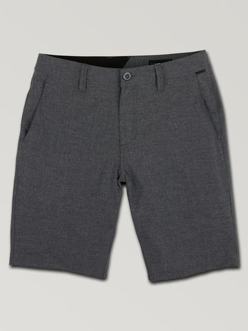 VOLCOM MENS SURF N' TURF STATIC 2 CHARCOAL HEATHER WALKSHORT