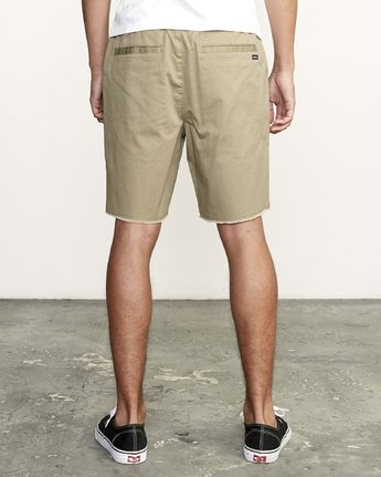 "RVCA MENS WEEKEND 19"" ELASTIC WOOD SHORT"