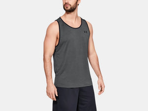 UNDER ARMOUR MENS TECH 2.0 PITCH GREY TANK