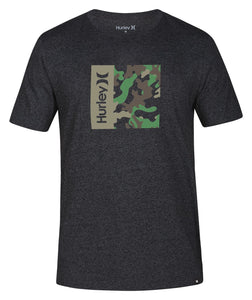HURLEY MENS SIRO ONE AND ONLY CAMO GREY TSHIRT