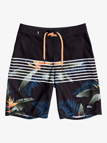 "QUIKSILVER YOUTH EVERYDAY LIGHTNING 18"" BLACK BOARDSHORTS"
