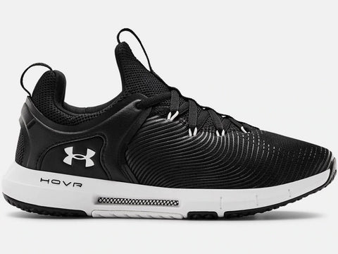 UNDER ARMOUR LADIES HOVR RISE 2 BLACK TRAINING SHOE