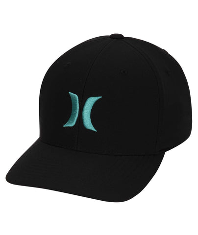 HURLEY MENS DRI FIT ONE AND ONLY BLACK/TEAL HAT