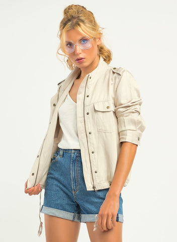 DEX CLOTHING LADIES CARGO LIGHT STONE JACKET