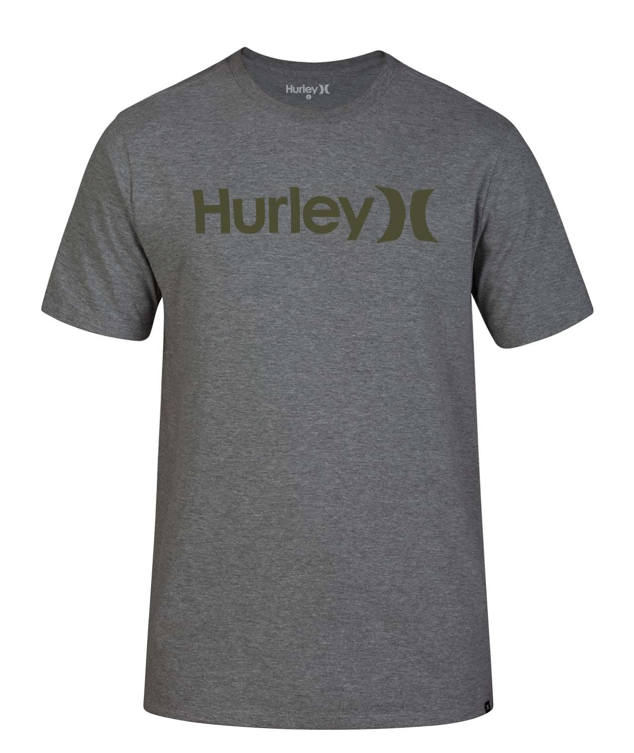 HURLEY MENS ONE AND ONLY SOLID GREY TSHIRT