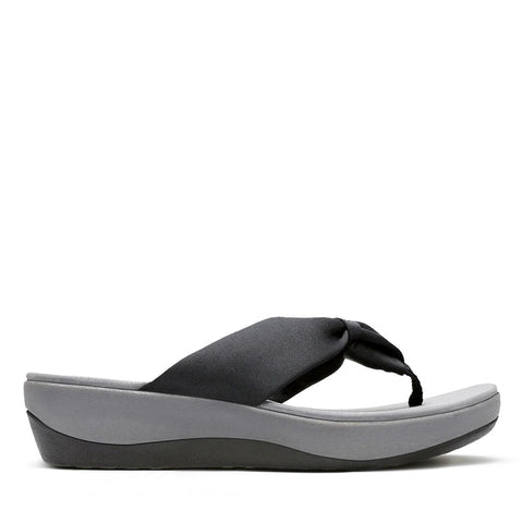CLARK LADIES ARLA GILSON BLACK FABRIC SANDAL