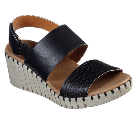 SKECHERS LADIES PIER AVE BLACK SANDAL