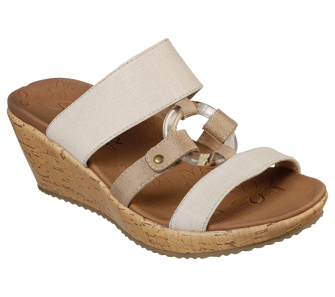 SKECHERS LADIES BEVERLEE SAIL AWAY NATURAL SANDAL