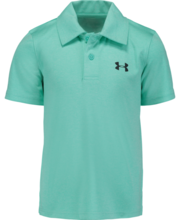 UNDER ARMOUR BOYS TURQUOISE POLO