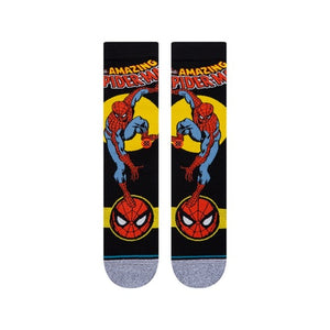 STANCE MENS MARVEL INFIKNIT SPIDERMAN MARQUEE BLACK SOCKS