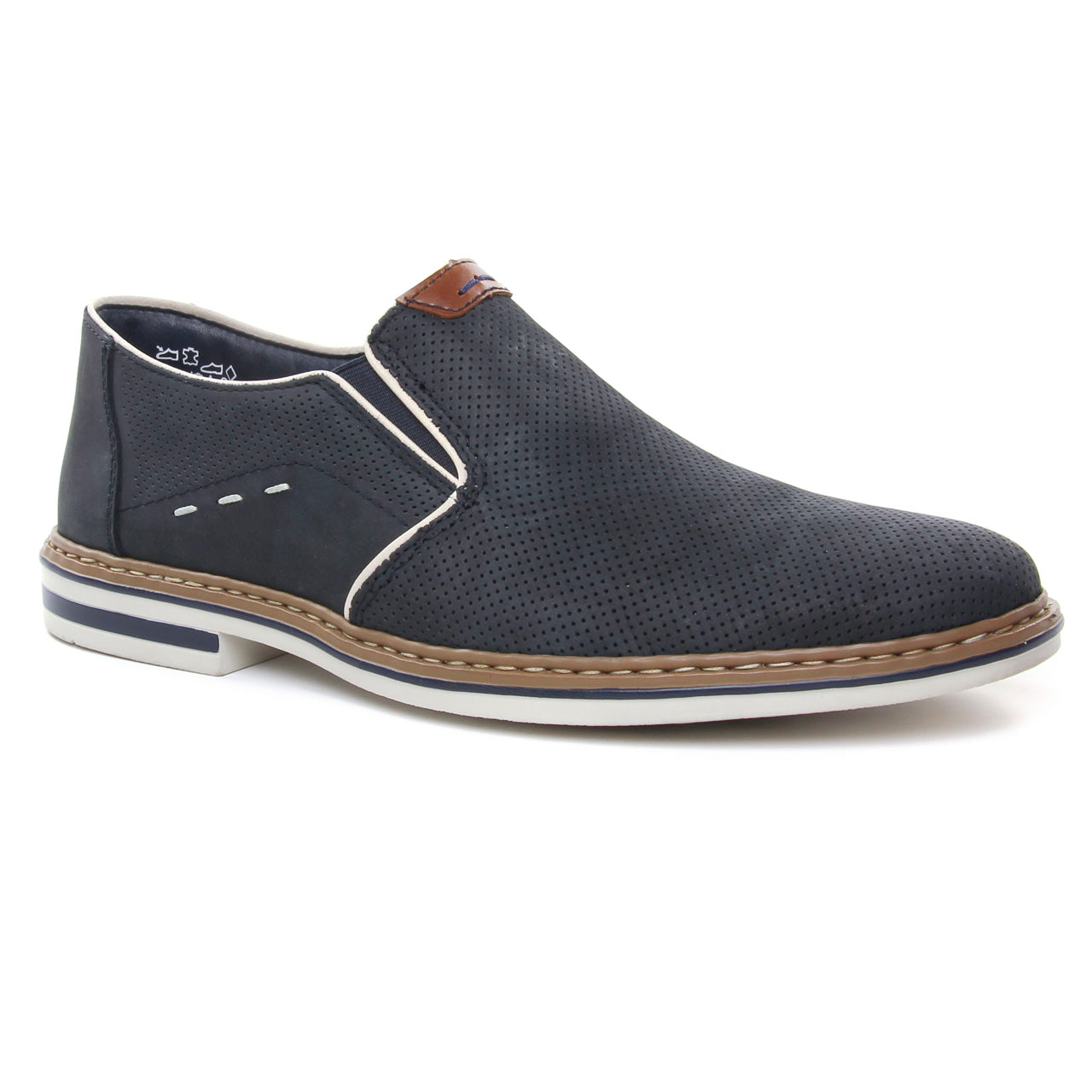 RIEKER MENS B1470-15 NAVY DRESS SHOE