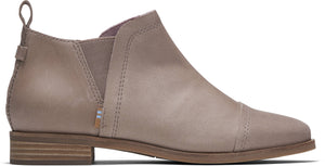 TOMS LADIES REESE GREY SMOOTH LEATHER BOOT