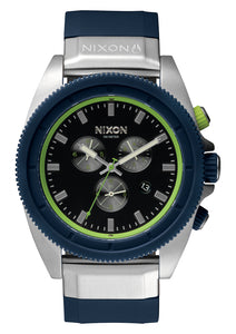 NIXON MENS ROVER CHRONO MIDNIGHT BLUE/VOLT GREEN WATCH
