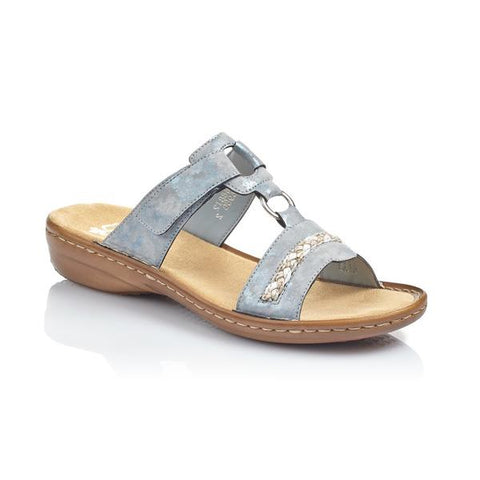 RIEKER LADIES 60888-12 BLUE SANDAL