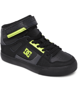 DC YOUTH PURE HT EV BLACK/BLACK/YELLOW SHOE