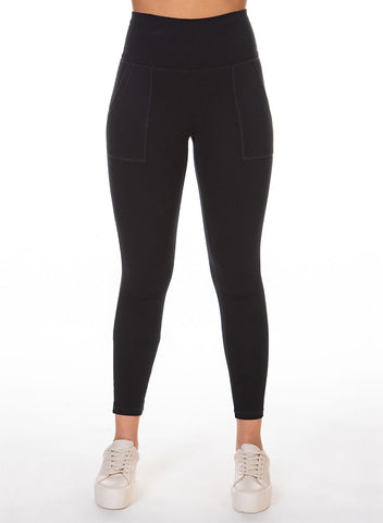 DEX CLOTHING LADIES BASIC POCKET BLACK LEGGING