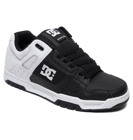 DC MENS STAG WHITE/BLACK/ WHITE PRINT SHOE