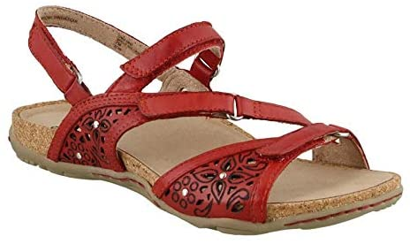 EARTH LADIES MAUI BRIGHT RED SANDAL