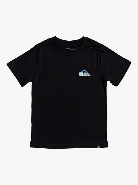 QUIKSILVER BOYS FAMILIAR FIRE BLACK TSHIRT