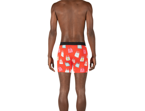 SAXX MENS VIBE RED NO THANK YOU BOXER BRIEF