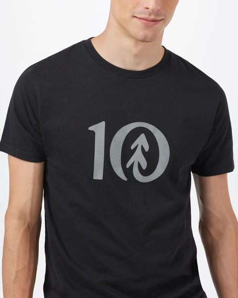 TEN TREE MENS TEN CLASSIC METEORITE BLACK TSHIRT