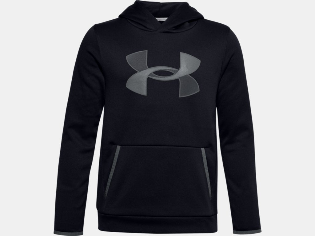 UNDER ARMOUR YOUTH ARMOUR FLEECE BLACK HOODIE
