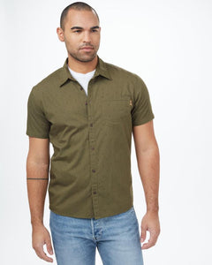 TEN TREE MENS SMALL TREE SS OLIVE NIGHT GREEN SHIRT