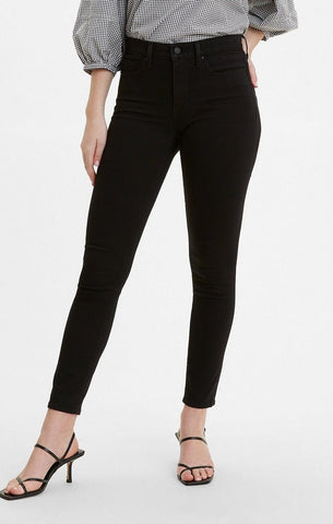 LEVI LADIES 311 SHAPING SKINNY 4X STRETCH NEW ULTRA BLACK JEANS