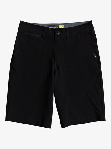 QUIKSILVER  YOUTH UNION AMPHIBIAN 19 BLACK SUBMERSIBLE SHORT
