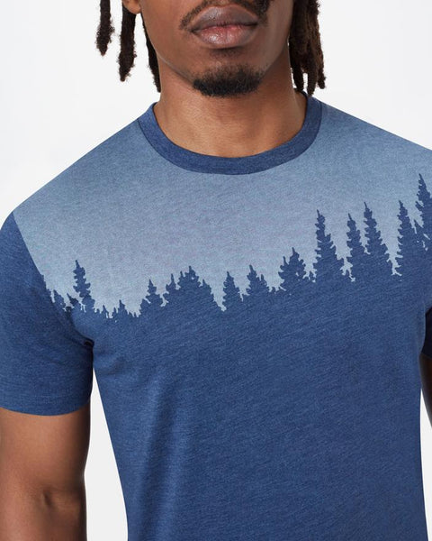 TEN TREE MENS JUNIPER CLASSIC DARK OCEAN BLUE HEATHER TSHIRT