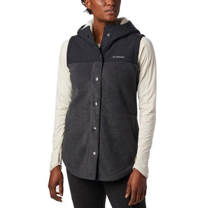 COLUMBIA LADIES BENTON SPRINGS OVERLAY CHARCOAL HEATHER SHARK VEST