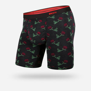 BN3TH MENS CLASSIC ROSES ARE RED BOXER BRIEF