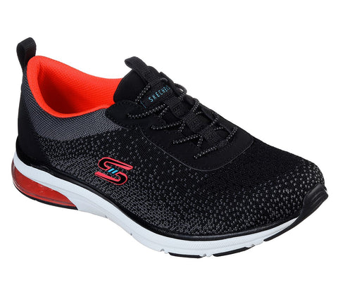 SKECHERS LADIES SKECH-AIR EDGE BLACK/CORAL SHOE
