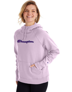 CHAMPION LADIES POWERBLEND APPLIQUE WATER IRIS HOODIE