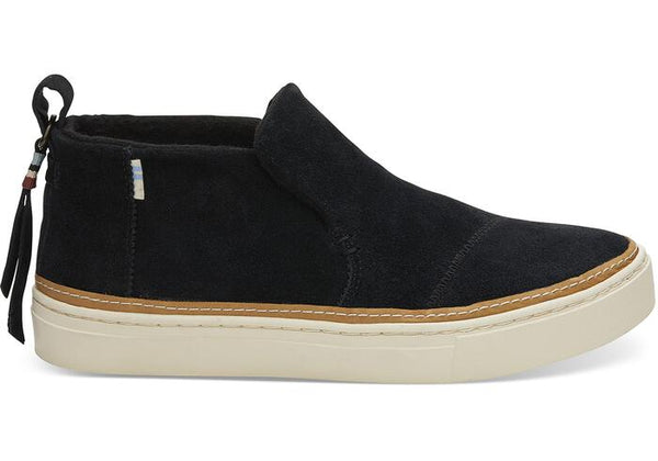 TOMS LADIES PAXTON BLACK SUEDE SLIP ON SHOE