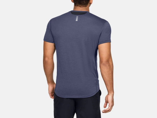 UNDER ARMOUR MENS STREAKER 2.0 BLUE INK TSHIRT