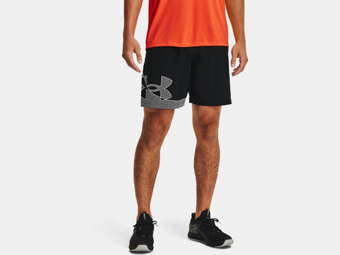 UNDER ARMOUR MENS WOVEN GRAPHIC BLACK SHORT
