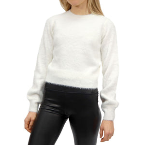 RD STYLE LADIES WHITE KNIT SWEATER