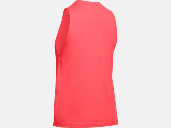UNDER ARMOUR LADIES MUSCLE RUSH RED TANK
