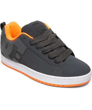 DC MENS COURT GRAFFIK DARK GREY/ORANGE SHOE