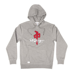 RDS MENS SIGNATURE CHENILLE HEATHER/RED HOODIE