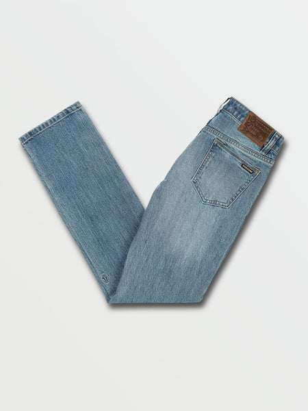 VOLCOM YOUTH VORTA SLIM FIT VINTAGE MARBOLED INDIGO JEAN