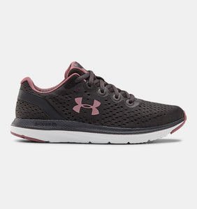 UNDER ARMOUR LADIES CHARGED IMPULSE JET GREY/WHITE RUNNING SHOE