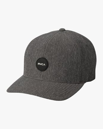 RVCA MENS SHANE FLEXFIT CHARCOAL HEATHER HAT
