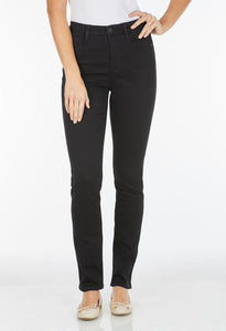 FDJ LADIES SUZANNE STRAIGHT LEG BLACK JEANS