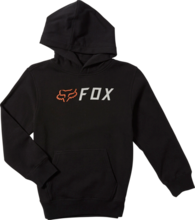 FOX YOUTH APEX PULLOVER BLACK HOODIE