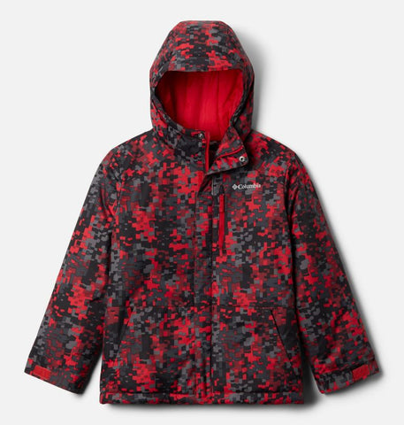 COLUMBIA YOUTH LIGHTNING LIFT MOUNTAIN RED WINTER JACKET